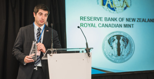 Jeff Hanke of Royal Canadian Mint and the Reserve Bank of New Zealand: Winners of Best New Commemorative or Test Circulating Coin