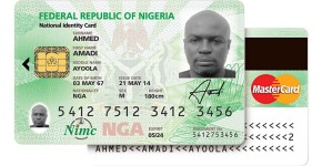 Nigeria's biometric-based verification card featuring an electronic payment solution from MasterCard.