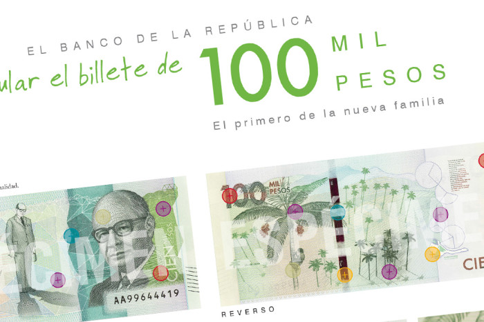 colombian 100,000 banknote campaign