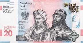 The new 20 zloty banknote featuring the DID Wave and DID Virtual, courtesy of PWPW