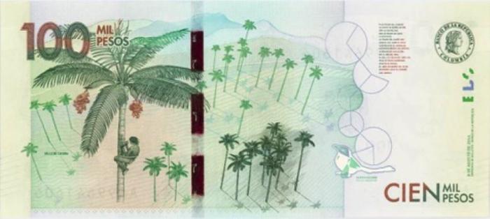 100 mil pesos - reverse