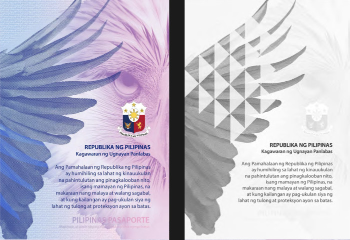 The new Philippines ePassport featuring the Philippine eagle