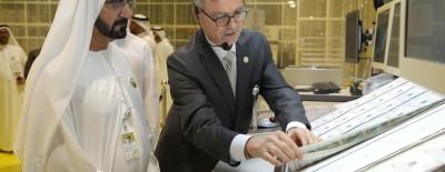 His Highness Sheikh Mohammed bin Rashid al Maktoum together with Dr Anton Gasteiger,  Oumolat's Managing Director.